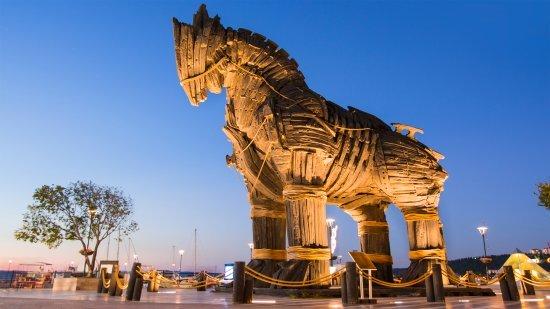 Troy, Trojan horse, Canakkale Turkey